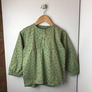 INDIKIDUAL Girls Green Shirt NWT Size 5/6